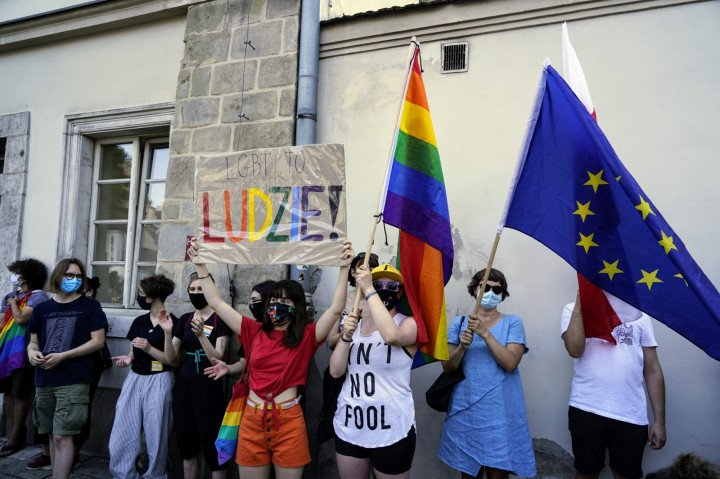 Protest solidarnościowy z Margot w Krakowie - zdjęcie: 18/20