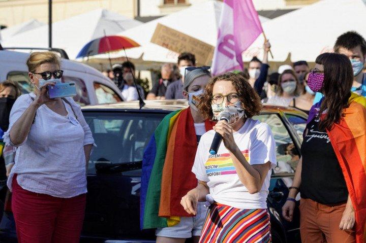 Protest solidarnościowy z Margot w Krakowie - zdjęcie: 20/20